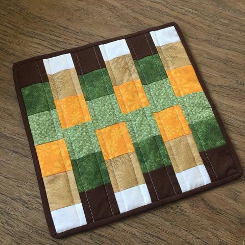Completed Fall Mini Quilt or Mug Rug