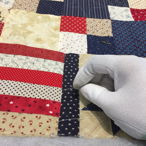 Thimble selection while hand quilting