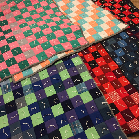 All seven throw quilts