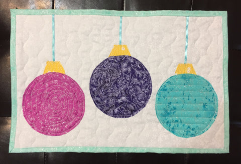 The second Holiday Ornament Table Runner