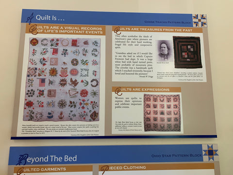 Quilt history poster