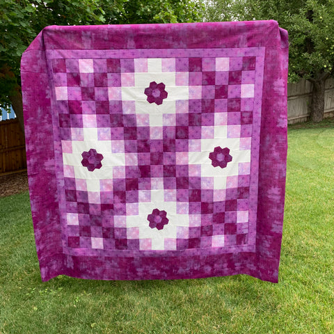 Purple Version of the Irish Woodland Quilt