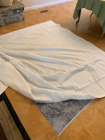 Pin Basting a Quilt - Batting