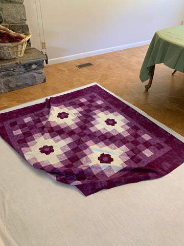 Pin Basting a Quilt- Adding the top