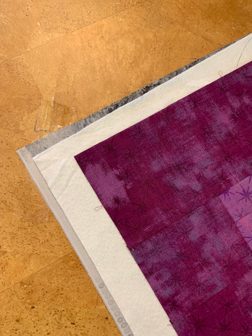 Pin Basting a Quilt - Matching corners