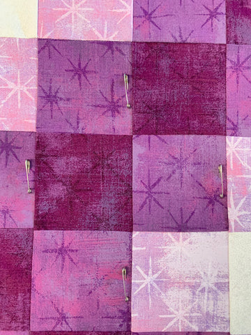 Pin Basting a Quilt - Pin placement