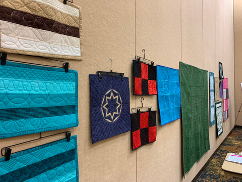 Mary Hyatt's Sample Quilts for Intro to Ruler Work Class