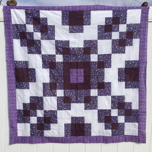 Violet Burst Quilt Pattern Digital Download - An Easy Quilt for Beginners