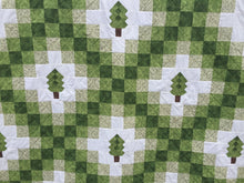 Irish Woodland Quilt Close up