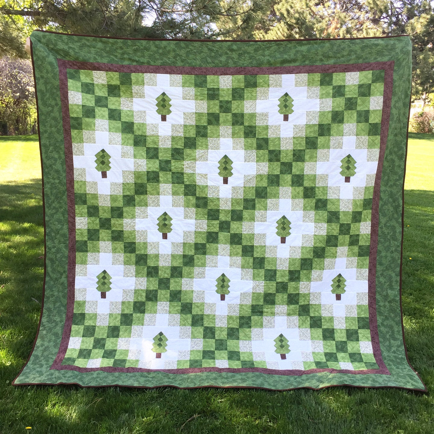 Irish woodland Quilt for Pattern