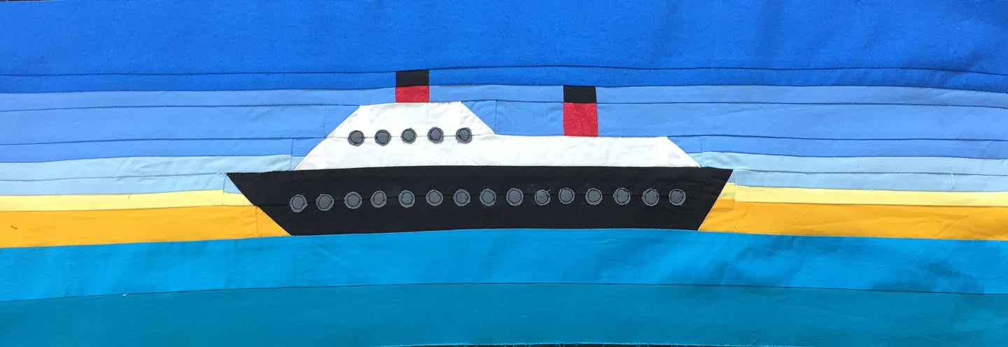 Cruise Ship Row/Mini Quilt/Wall Hanging - Digital Download