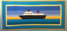 Cruise Boat Quilt Row with boarders and Quilted