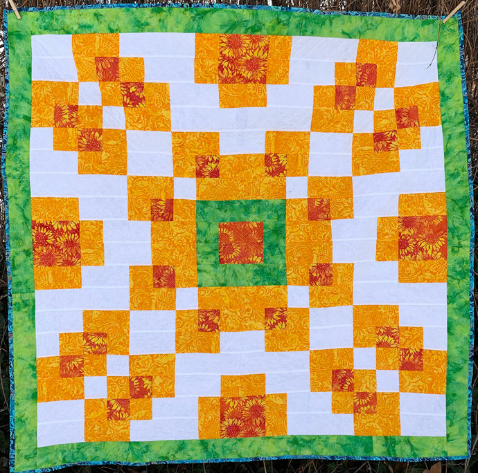 Counterbalance Quilt Pattern Digital Download - An Easy Quilt for Beginners - Formally Known as Violet Burst Quilt