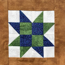 Close up of Hickory Dickory Dock Quilt Block Row Pattern