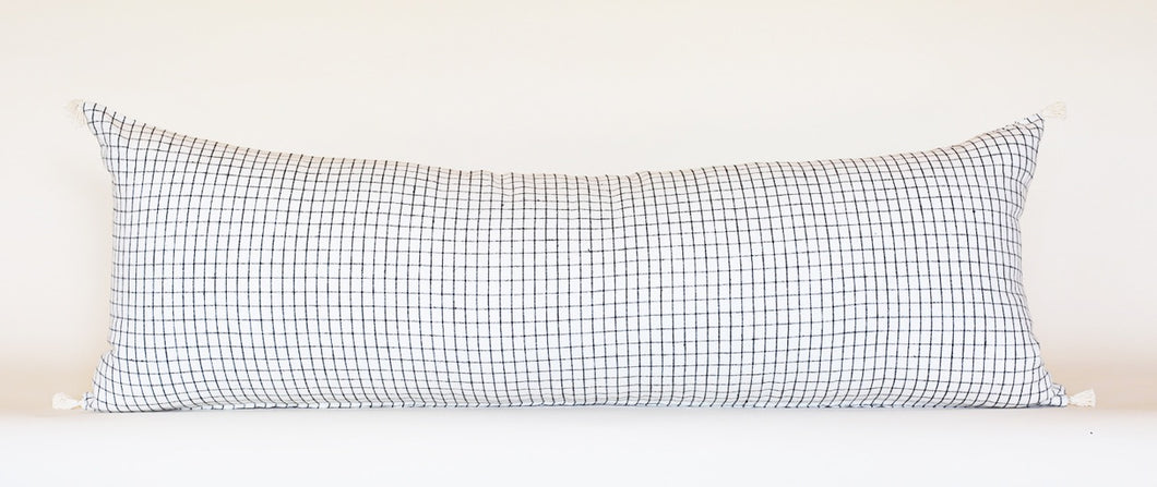 Lumbar Pillow: Sable Grid