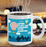 Autism Inspirational Coffee Mug - It's Just Not A Diagnosis It's An Adventure - Best gift for Friend,coworker,Boss,Secret Santa,birthday, Husband,Wife,girlfriend,boyfriend (White)