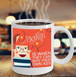 Imagination Is When They Can Wipe Their Own Behind - Funny Nurse Coffee Mug - Best gift for BFF, Friend, coworker,Boss,Secret Santa,birthday, Husband,Wife,girlfriend (White)