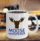 Moose Funny Coffee Mug - Best Gift For Friend,Coworker,Boss,Secret Santa,Birthday,Husband,Wife,Girlfriend,Boyfriend (White) - Moose Whisperer