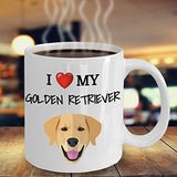 I Love My Golden Retriever - Funny 11oz 15oz coffee mug for pet lover, dog mom, dog parent, pet parent- Great gift idea for BFF, Friend, coworker/Boss, Secret Santa/birthday, Wife/girlfriend