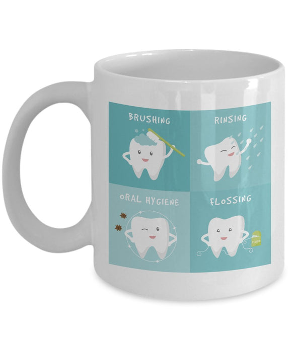 Funny Dentist 11oz 15oz Coffee Mug - for BFF, Friend, coworker,Boss, Secret Santa,birthday, Wife,girlfriend (White)