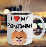 I Love My Pomeranian - Funny 11oz 15oz coffee mug for pet lover, dog mom, dog parent, pet parent- Great gift idea for BFF, Friend, coworker/Boss, Secret Santa/birthday, Wife/girlfriend