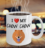 I Love My Chow Chow - Funny 11oz 15oz coffee mug for pet lover, dog mom, dog parent, pet parent- Great gift idea for BFF, Friend, coworker/Boss, Secret Santa/birthday, Wife/girlfriend