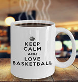 Keep Calm and Love Basketball - Funny - 11oz 15oz Coffee Mug - Gift
