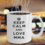 Keep Calm and Love MMA - Funny - 11oz 15oz Coffee Mug - Gift