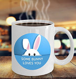Easter Funny Coffee Mug - Some Bunny Loves You - Best Gift For Friend,Coworker,Boss,Secret Santa,Birthday,Husband,Wife,Girlfriend,Boyfriend (White)