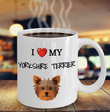 I Love My Yorkshire Terrier - Funny 11oz 15oz coffee mug for pet lover, dog mom, dog parent, pet parent- Great gift idea for BFF, Friend, coworker/Boss, Secret Santa/birthday, Wife/girlfriend