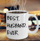 Best Husband Ever - Funny 11oz 15oz Coffee Mug - Great Fun gift idea for BFF, Friend, coworker,Boss, Secret Santa,birthday, Husband,Wife,girlfriend (White)