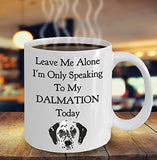 Leave Me Alone I'm Only Speaking to My Dalmation Today - Funny mug for pet lover, dog parent - gift idea for BFF, Friend, coworker/Boss, Secret Santa/birthday, Wife/girlfriend (White)