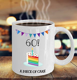 Happy 60th Birthday - Funny 11oz 15oz Coffee Mug - Great Fun gift idea for BFF, Friend, coworker,Boss, Secret Santa,birthday, Husband,Wife,girlfriend (White)