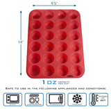 Silicone 24 Mini Muffin Cupcake Baking Pan