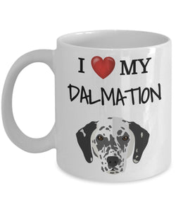 I Love My Dalmation - Funny 11oz 15oz coffee mug for pet lover, dog mom, dog parent, pet parent- Great gift idea for BFF, Friend, coworker/Boss, Secret Santa/birthday, Wife/girlfriend