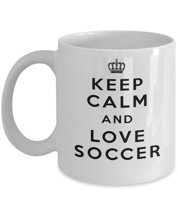 Keep Calm and Love Soccer - Funny - 11oz 15oz Coffee Mug - Gift