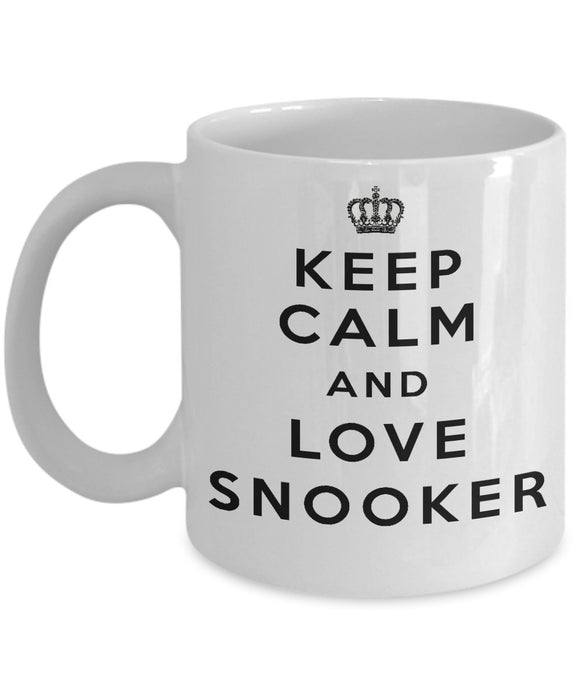 Keep Calm and Love Snooker - Funny - 11oz 15oz Coffee Mug - Gift