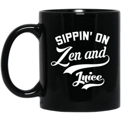 Zen and Juice 11 oz. Black Mug