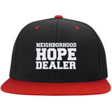 Neighborhood Hope Dealer Snapcback Hat - Black and Red