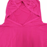 Breathable Cut Out Sports Hoodie - Pink