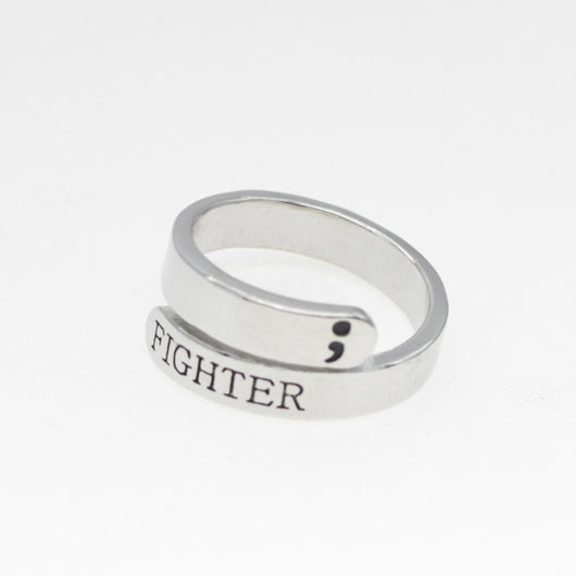 Women's Semicolon Ring