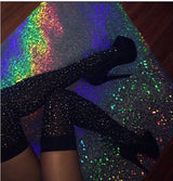 Glittery Thigh High Socks