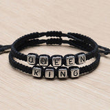 King and Queen Braided Bracelet - Pair