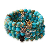 Turquoise Queen Bead Bracelets Stacked