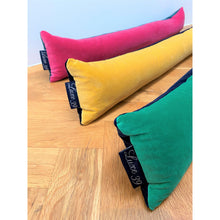 bright coloured velvet draft excluders