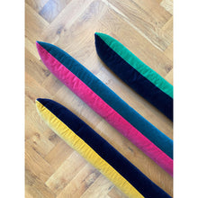 velvet draft excluders for bright coloured draft stoppers