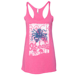 One Man Band Vintage Pink Racerback Tank - Front View