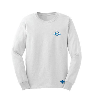 Diver Down White Long Sleeve - Front View