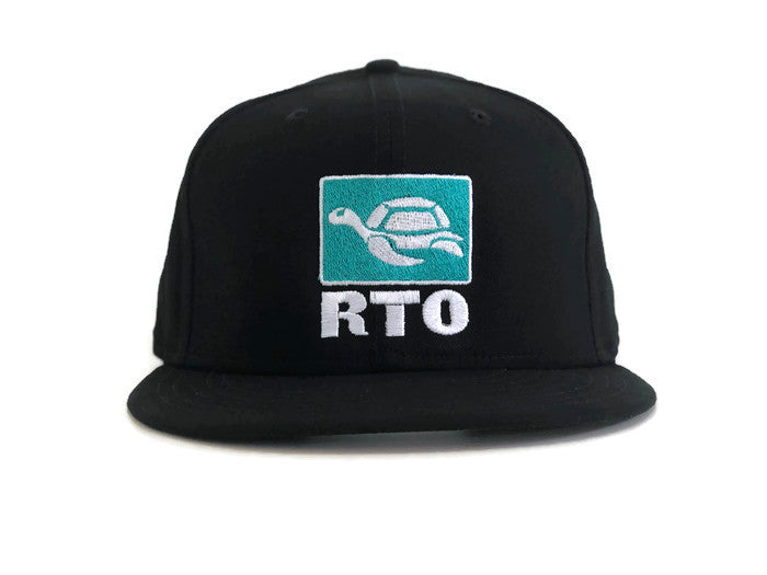 Front View Black Flat Bill Turtle Patch RTO