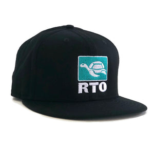 Side View Black Flat Bill Turtle Patch RTO